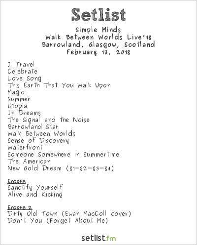 Simple Minds Acoustic Tour Setlist | Find Your World
