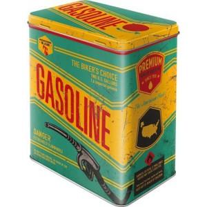 boite metal vintage gasoline