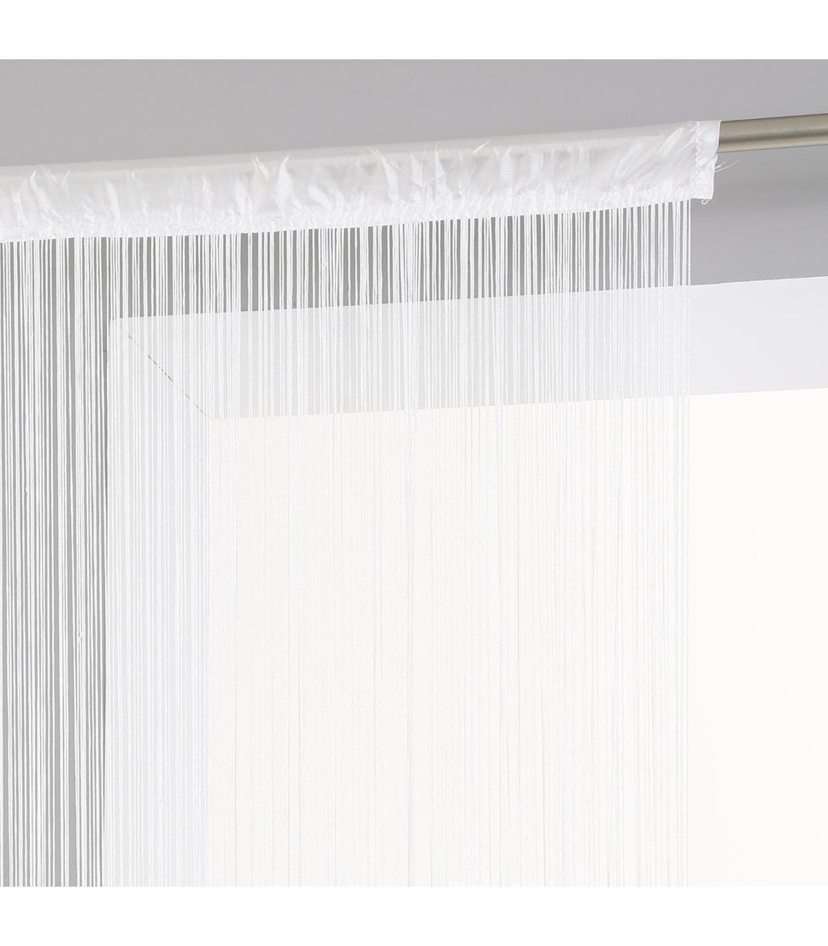 rideau fil blanc 120x240