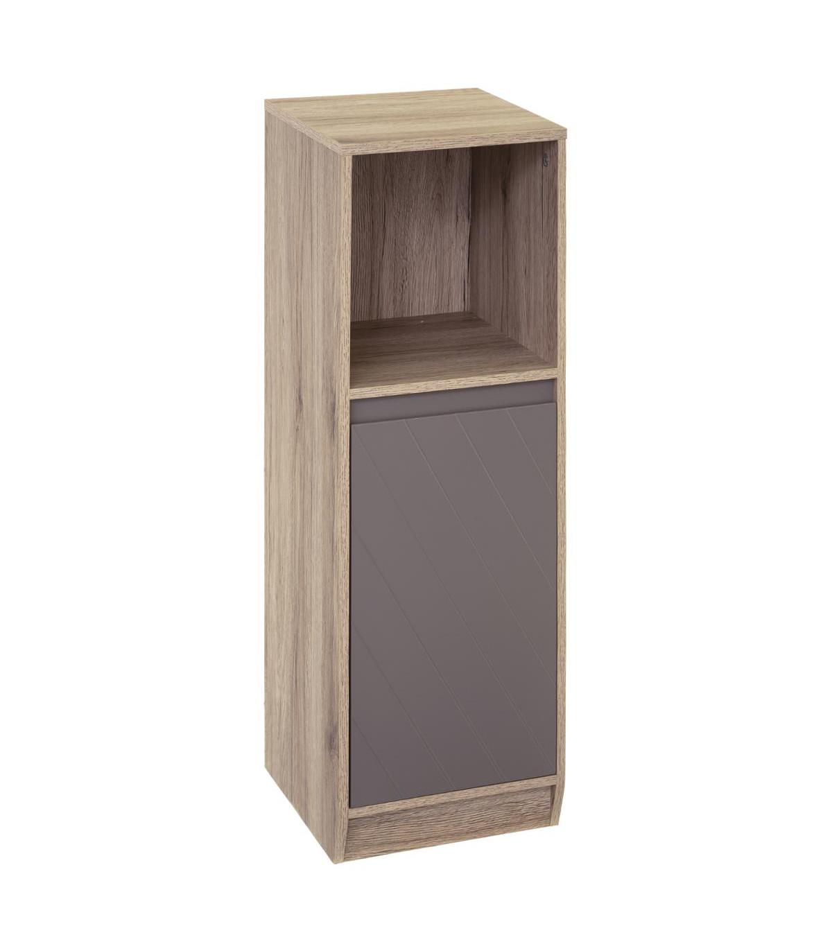 meuble bas en bois gris elda