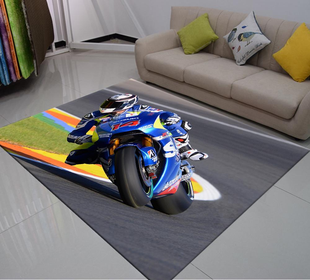 tapis de sol antiderapant avec impression 3d pour chambre a coucher pour voiture de course moto surf sport extreme extreme doux