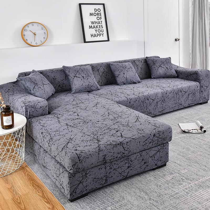 housse extensible pour canape motif geometrique compatible avec canape d angle pour salon protection pour les animaux domestiques 1 piece