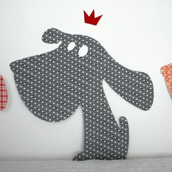 Sticker chien bleu marine sur www.DesignfromParis.com