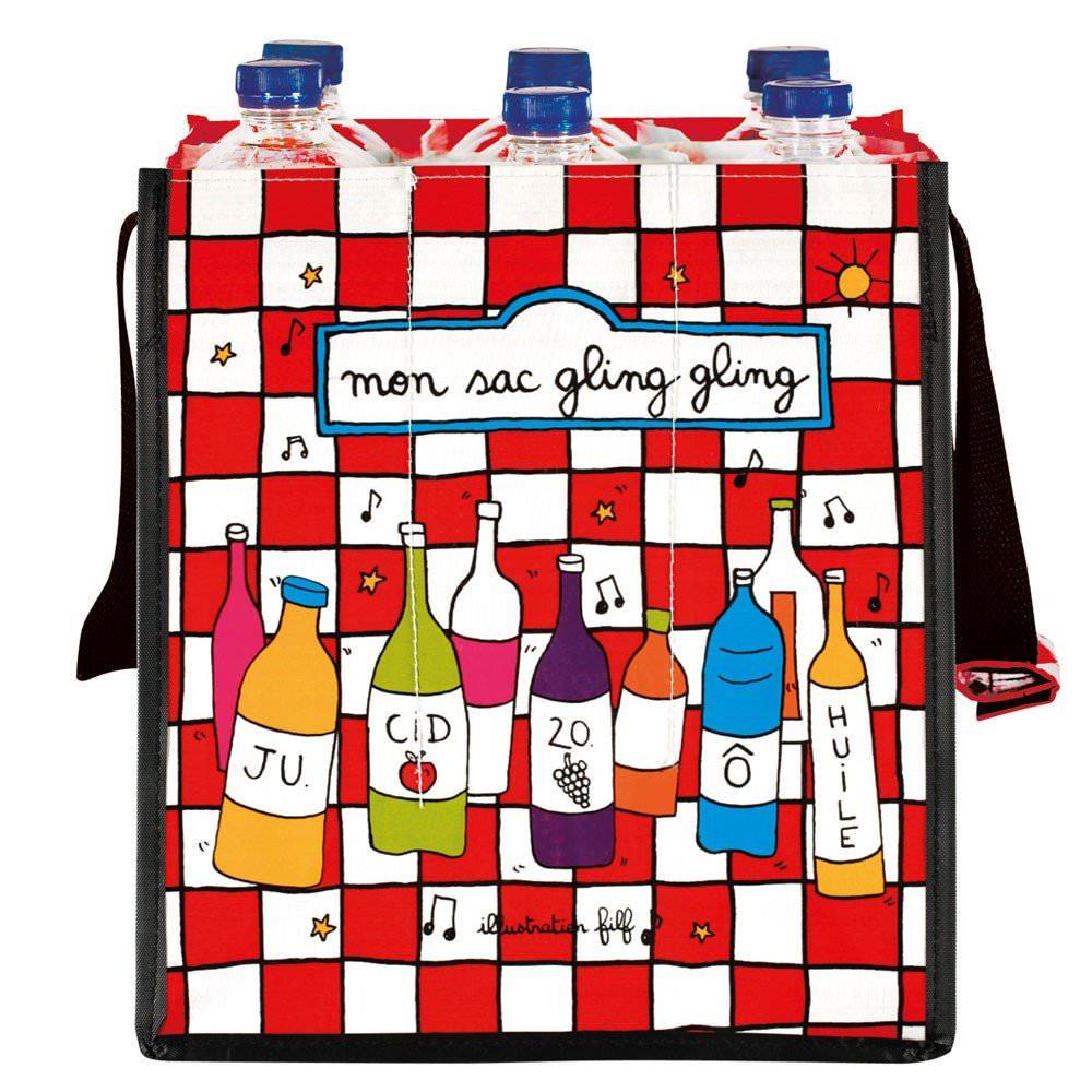 Mon sac à bouteilles Gling-Gling  Filf : 6,50€