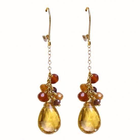Boucles d'oreillles Seven Ocre  Diane de Navacelle : 490€