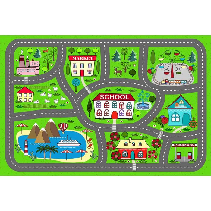 tapis vinyle enfant circuit voiture
