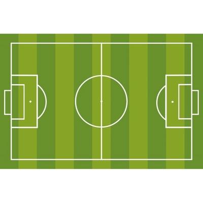 tapis de chambre motif terrain de foot