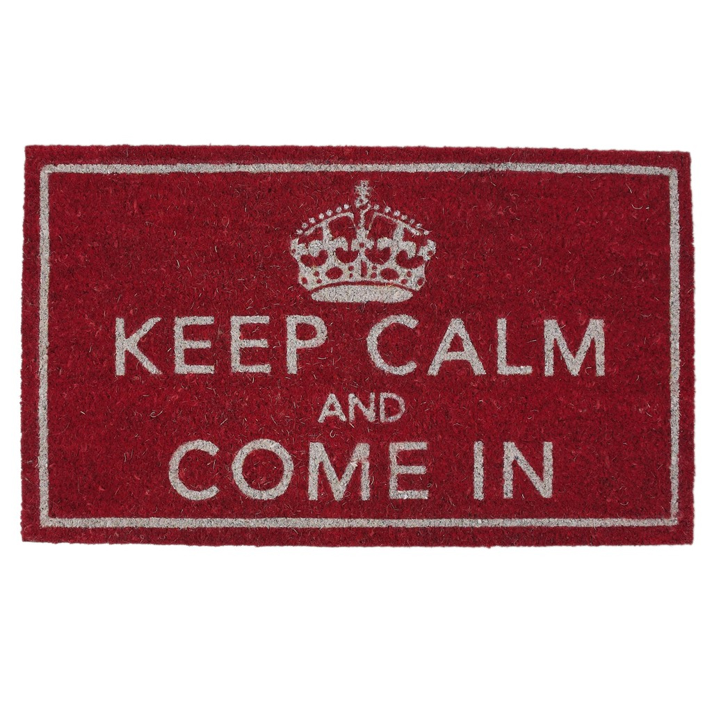 Paillasson - Keep calm and come in  Rex : 24€