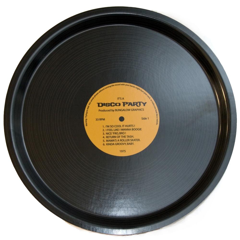 Plateau en bouleau - Vinyle  Bungalow Graphics : 25€
