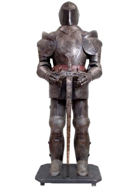 Armure médiévale chevalier noir 185 cm Coucy - Décorations de style/Armures de chevalier médiéval - classic-stores