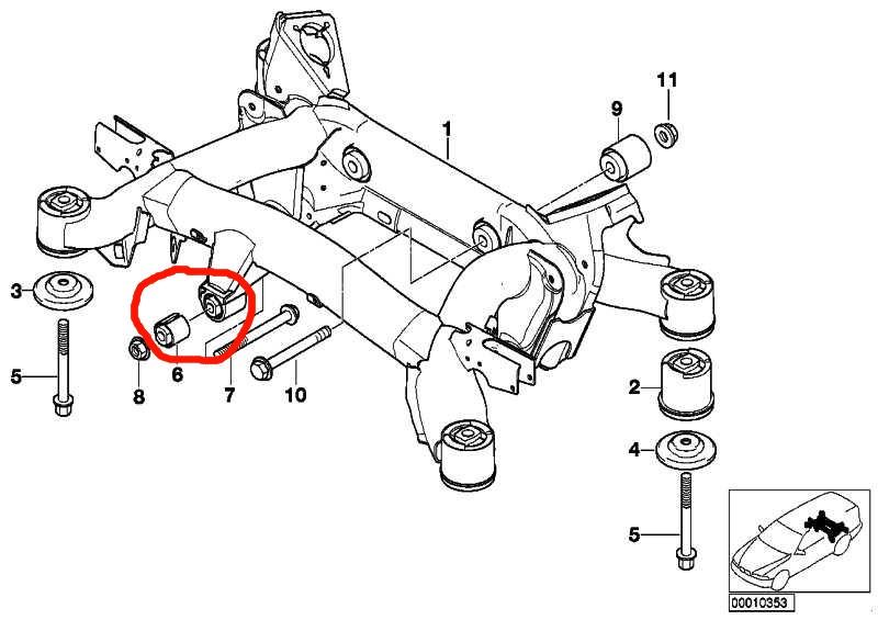 Extracteur silent bloc berceau BMW E38 E39 E52 33171090389