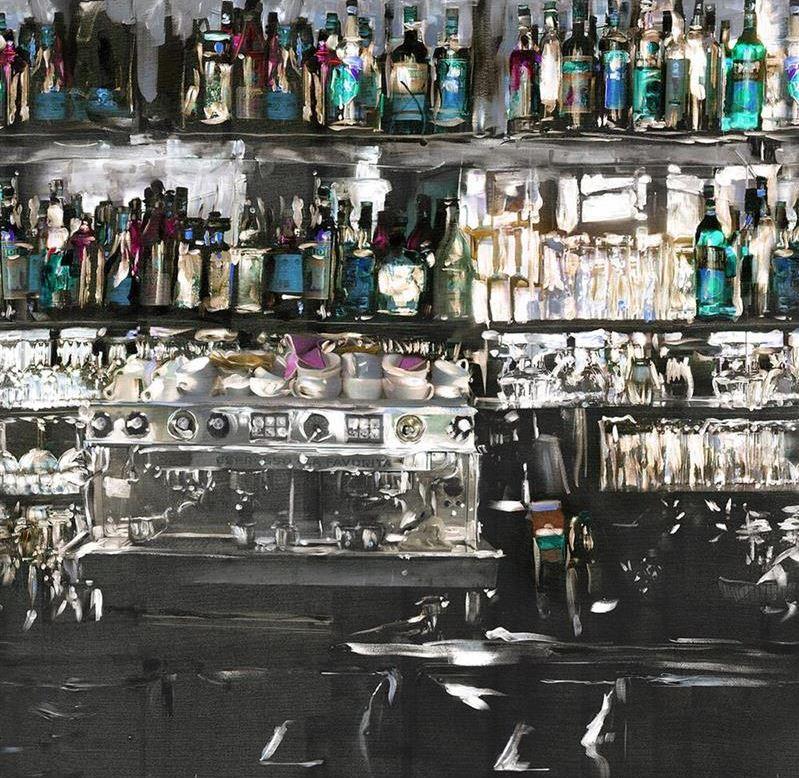 papier peint panoramique aperitif a l huile