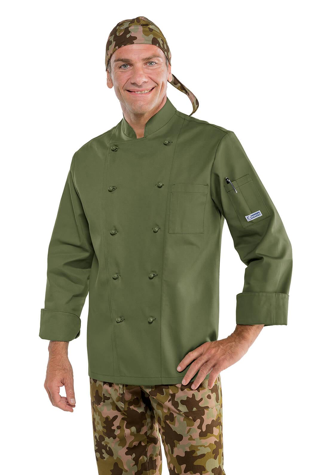 Veste de cuisine Kaki Militaire  Vtements de cuisine Pro