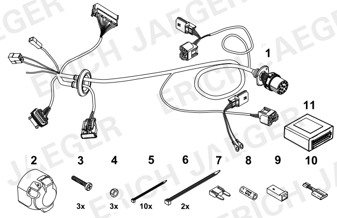 SET0795 Faisceau spécifique 7 Broches multiplexé Trafic 3