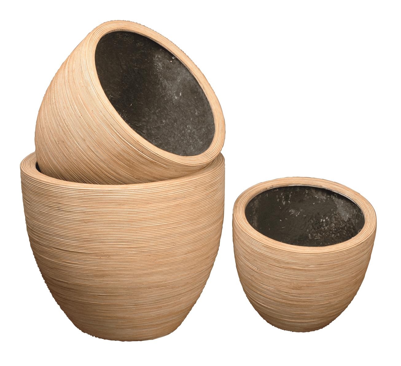 pot rond en rotin 100 naturel interieur resine etanche