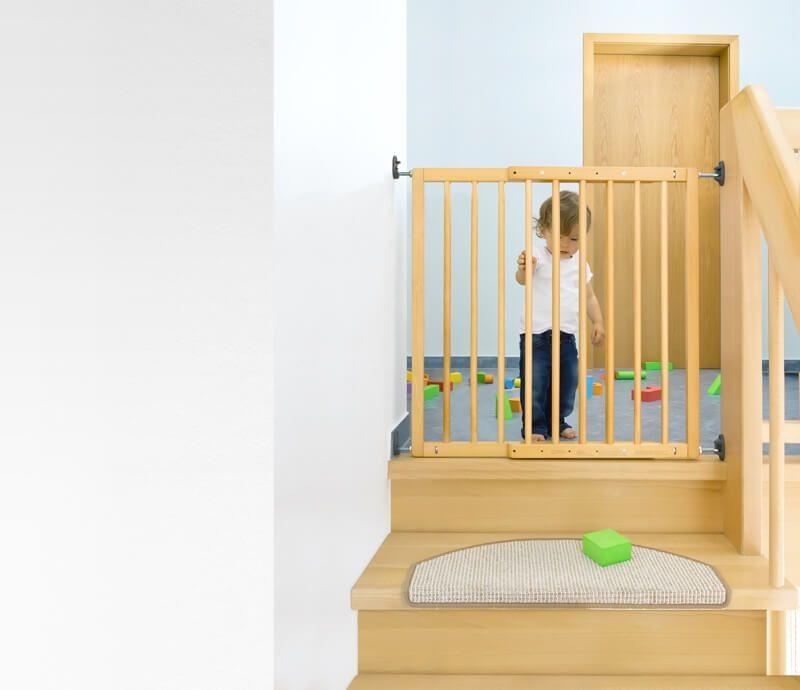 barriere de securite enfant extensible a visser bois