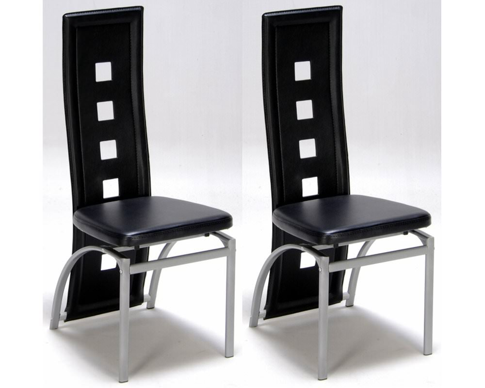 Lot De 2 Chaises Design Noir Meubles De Salon