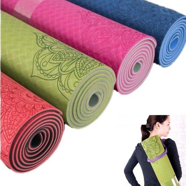 veritable tapis de yoga 6mm 183cmx61cm
