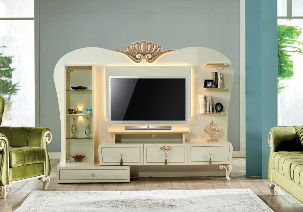 mur living tv style baroque asur