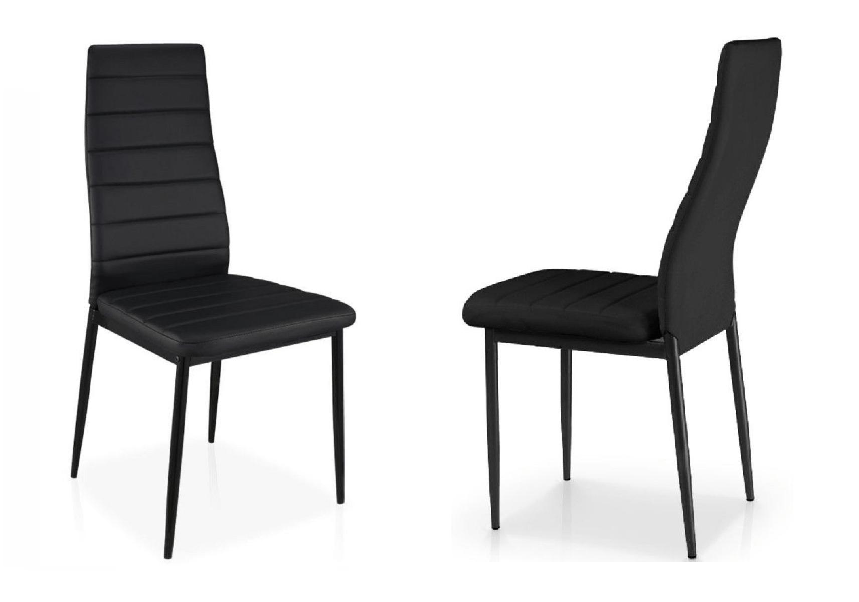 lot 6 chaises design noir fly