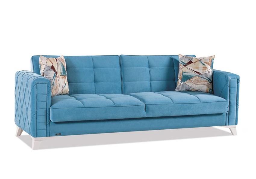 canape lit coffre bleu icone
