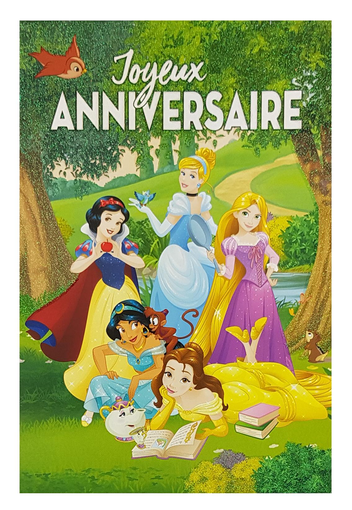 carte joyeux anniversaire princesses disney ref 109