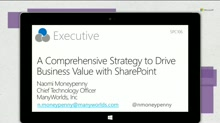 A comprehensive strategy to drive business value with SharePoint