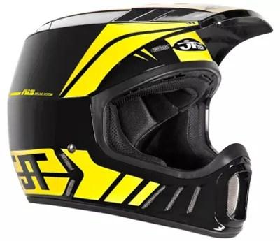 Jt Racing Als2 Full Face Helmet Black Yellow Podzone