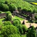 Vue de dessus du Château du Feÿ situé dans l'Yonne en Bourgogne