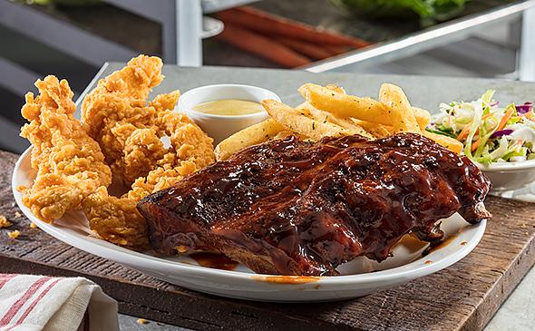 half rack of ribs chicken tenders