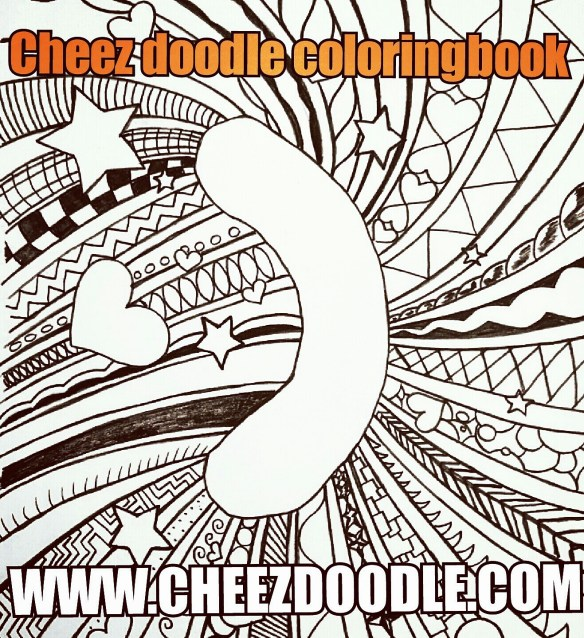 Cheez doodle coloring book