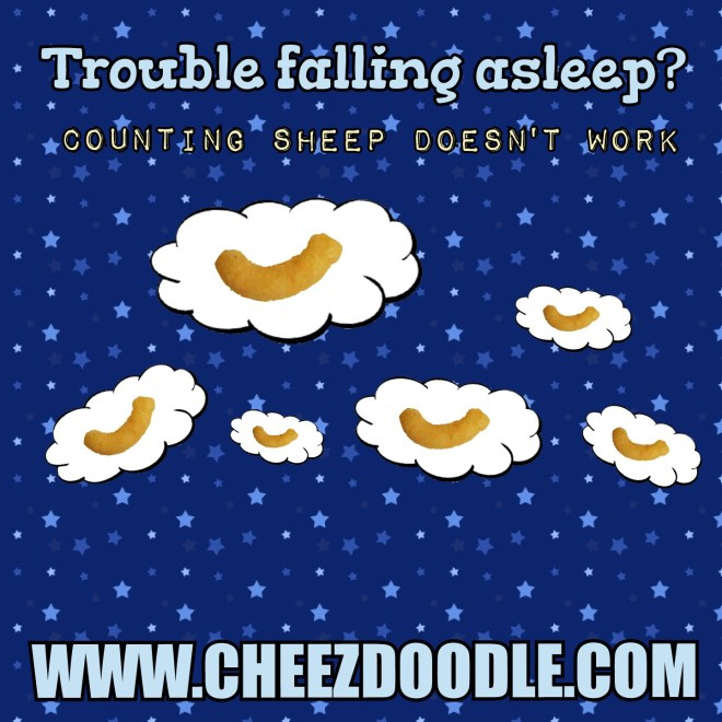 Count cheez doodles when having trouble falling asleep