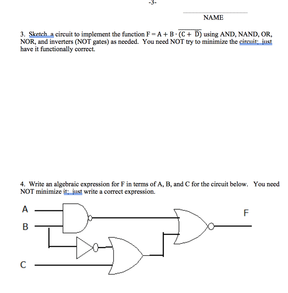 medium resolution of sketch a circuit to implement the function f a b c d