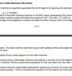 question 4 state machines 25 marks a state machine is required to generate the [ 1024 x 823 Pixel ]