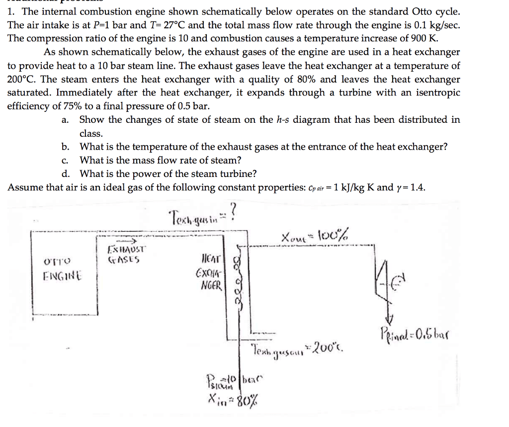 hight resolution of the internal combustion engine shown schematically below operates on the standard otto cycle