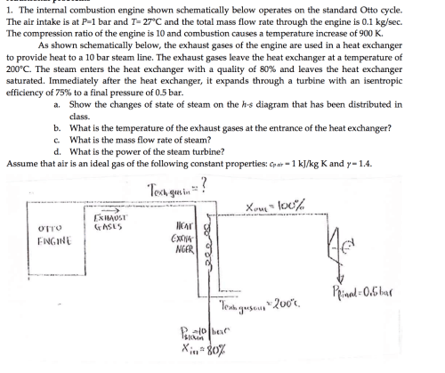small resolution of the internal combustion engine shown schematically below operates on the standard otto cycle