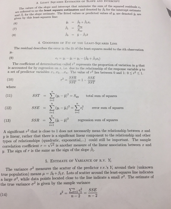 Find A Least-squares Linear Regression Line. Step ... | Chegg.com
