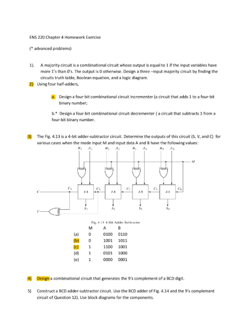 small resolution of ens 220 chapter 4 homework exercise advanced problems 1 a majority circuit is a