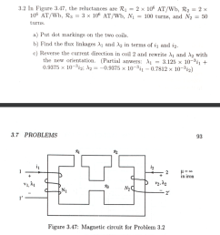 3 2 in figure 3 47 the reluctances are r12 x 106 at wb r2 [ 951 x 1024 Pixel ]