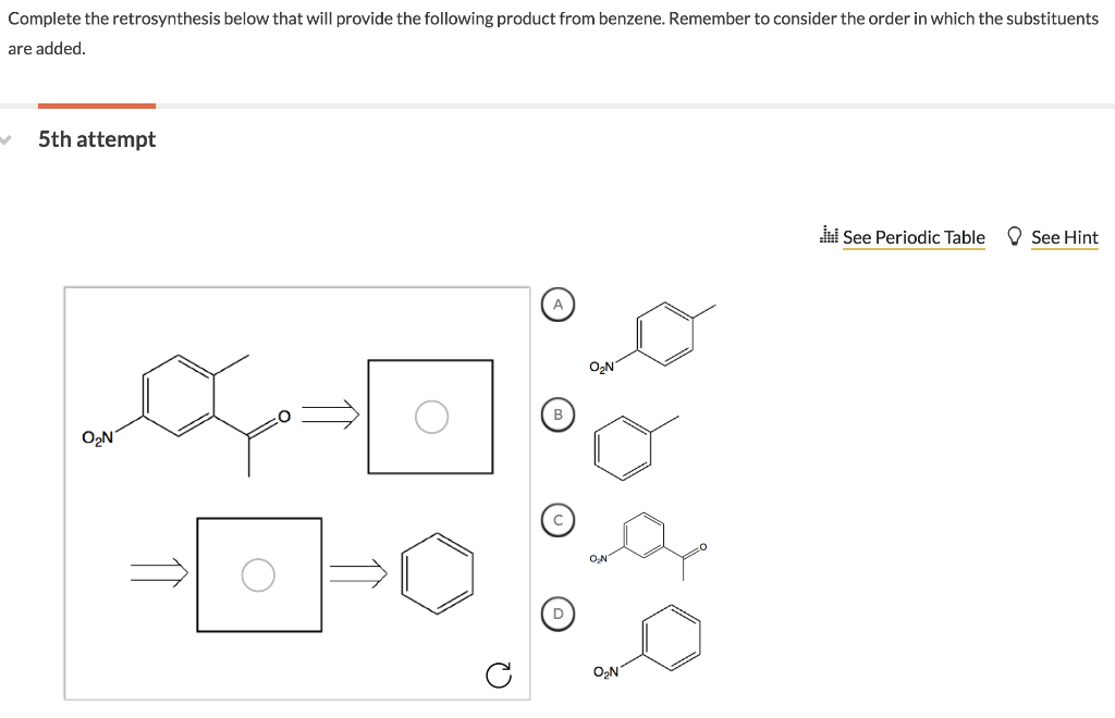 Solved: Complete The Retrosynthesis Below That Will Provid