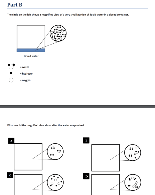 small resolution of question part a the diagram represents a mixture of s atoms and o2molecules in a closed container which of the following diagrams shows the results after