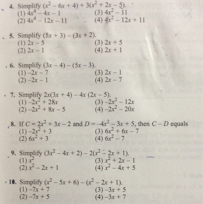 solved 4 simplify 6x