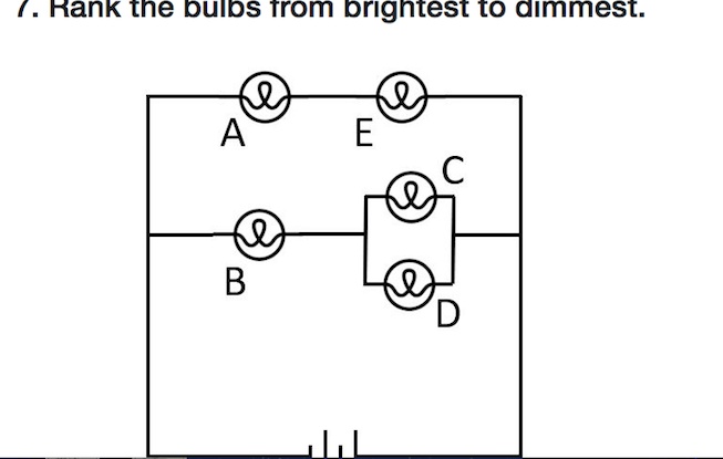 Solved: . Rank The Bulbs From Brightest To Dimmest