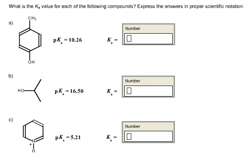 Estimate The PK A Values For The Functional Classes