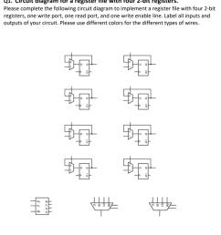 circuit diagram for a register file with four 2 bit registers please [ 927 x 1024 Pixel ]