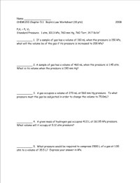 Boyles And Charles Law Worksheet Free Worksheets Library