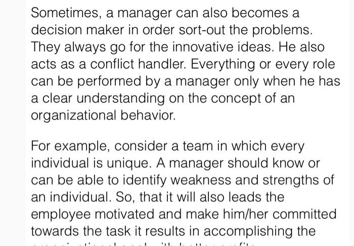 Solved: In The Present Scenario, Organizational Behavior P