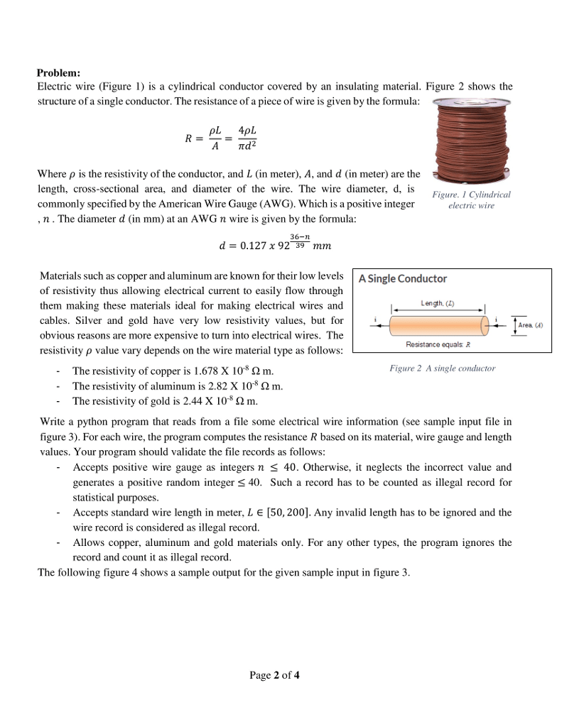 medium resolution of  problem electric wire figure 1 is a cylindrical conductor covered by an insulating