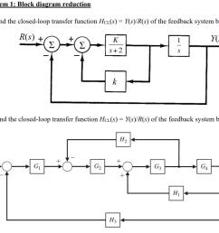 problem 1 block diagram reduction ek r s y s  [ 1021 x 816 Pixel ]