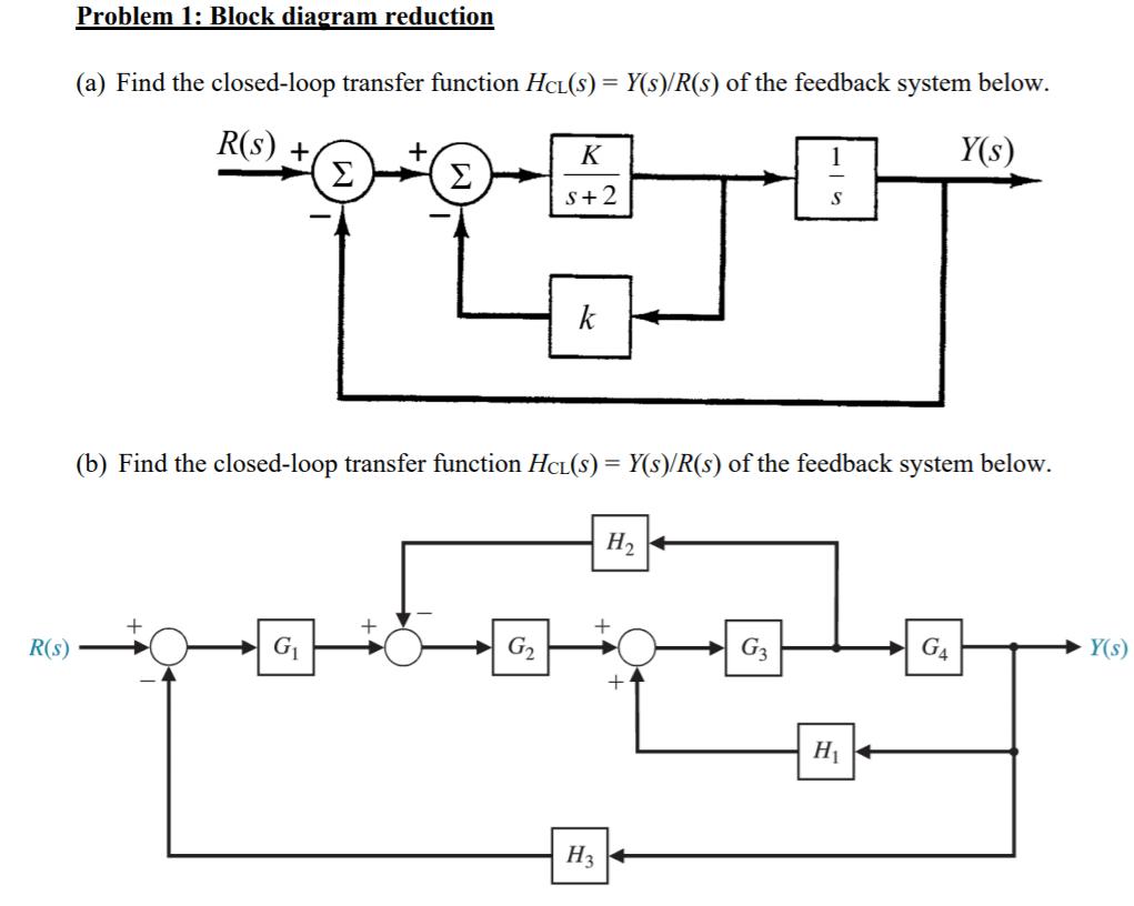 hight resolution of problem 1 block diagram reduction ek r s y s